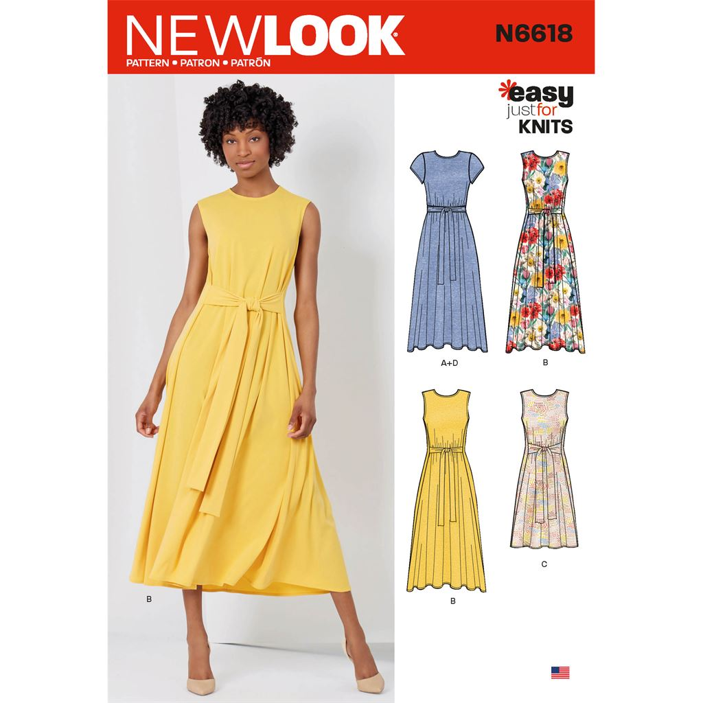 New Look Sewing Pattern N6618 Misses Dresses In Two Lengths 6618 Image 1 From Patternsandplains.com