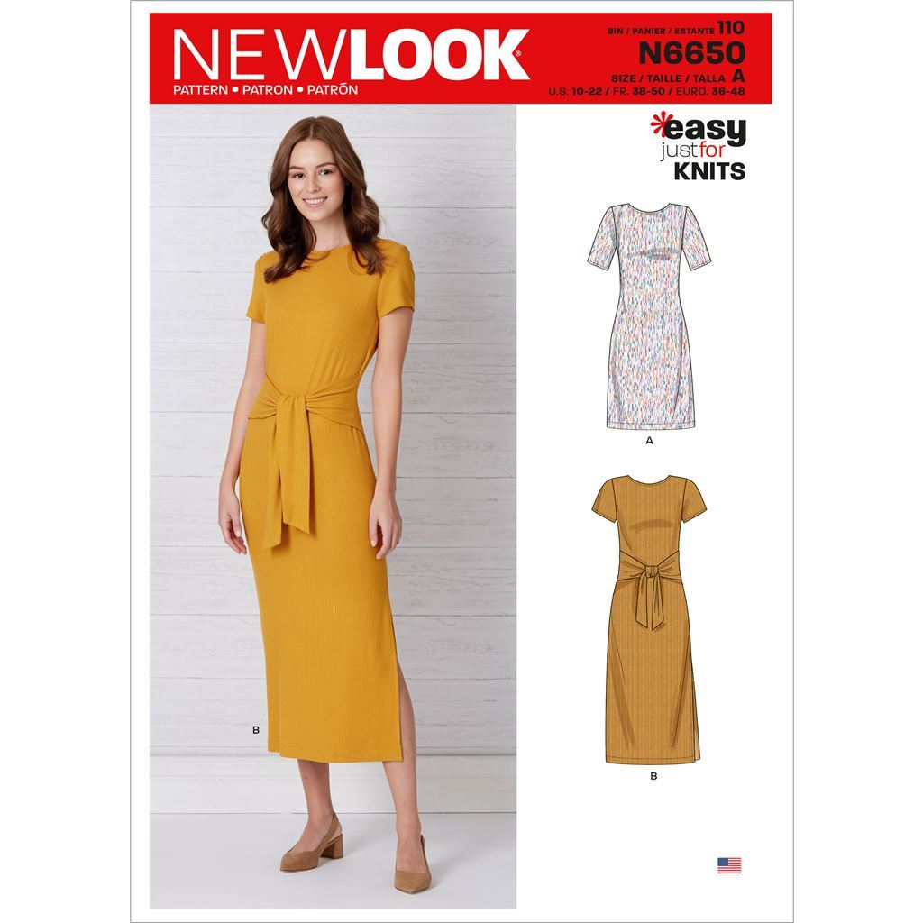 New Look Sewing Pattern N6650 Misses Knit Dress With Sleeve and Length Variations 6650 Image 1 From Patternsandplains.com