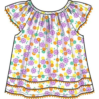 New Look Sewing Pattern N6663 Infants Dress Top With Appliques and Trims and Pants With Bows At Hem 6663 Image 3 From Patternsandplains.com