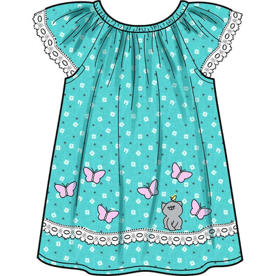 New Look Sewing Pattern N6663 Infants Dress Top With Appliques and Trims and Pants With Bows At Hem 6663 Image 5 From Patternsandplains.com