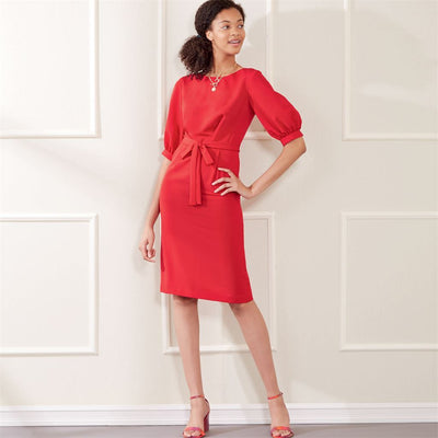 New Look Sewing Pattern N6679 Misses Knee Length Dress With Sleeve Variations 6679 Image 5 From Patternsandplains.com