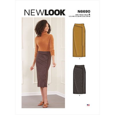 New Look Sewing Pattern N6690 Misses Skirts 6690 Image 1 From Patternsandplains.com