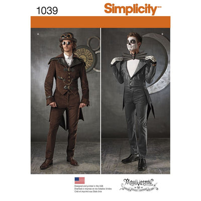 Simplicity Pattern 1039 Mens Cosplay Costumes Image 1 From Patternsandplains.com