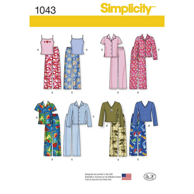 Simplicity Pattern 1043 Childs Girls and Boys Separates Image 1 From Patternsandplains.com