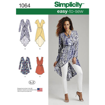 Simplicity Pattern 1064 Womens Tunics Image 1 From Patternsandplains.com