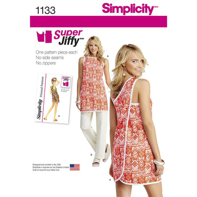 Simplicity Pattern 1133 Womens Super Jiffy Tunic and Trousers Image 1 From Patternsandplains.com