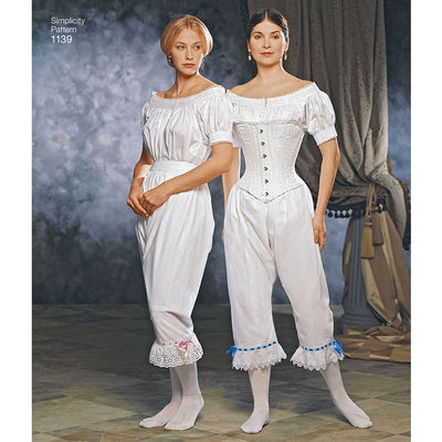Simplicity Pattern 1139 Womens Civil War Undergarments Image 1 From Patternsandplains.com