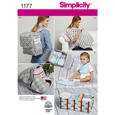 Simplicity Pattern 1177 Accessories for Babies Image 1 From Patternsandplains.com
