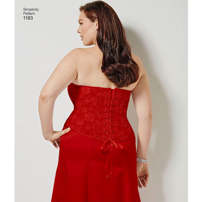 Simplicity Pattern 1183 Womens and Plus Size Corsets Image 1 From Patternsandplains.com