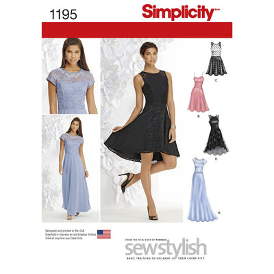 Simplicity Pattern 1195 Womens and Petite Special Occasion Dress Image 1 From Patternsandplains.com