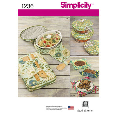 Simplicity Pattern 1236 Casserole Carriers Gifting Baskets and Bowl Covers Image 1 From Patternsandplains.com