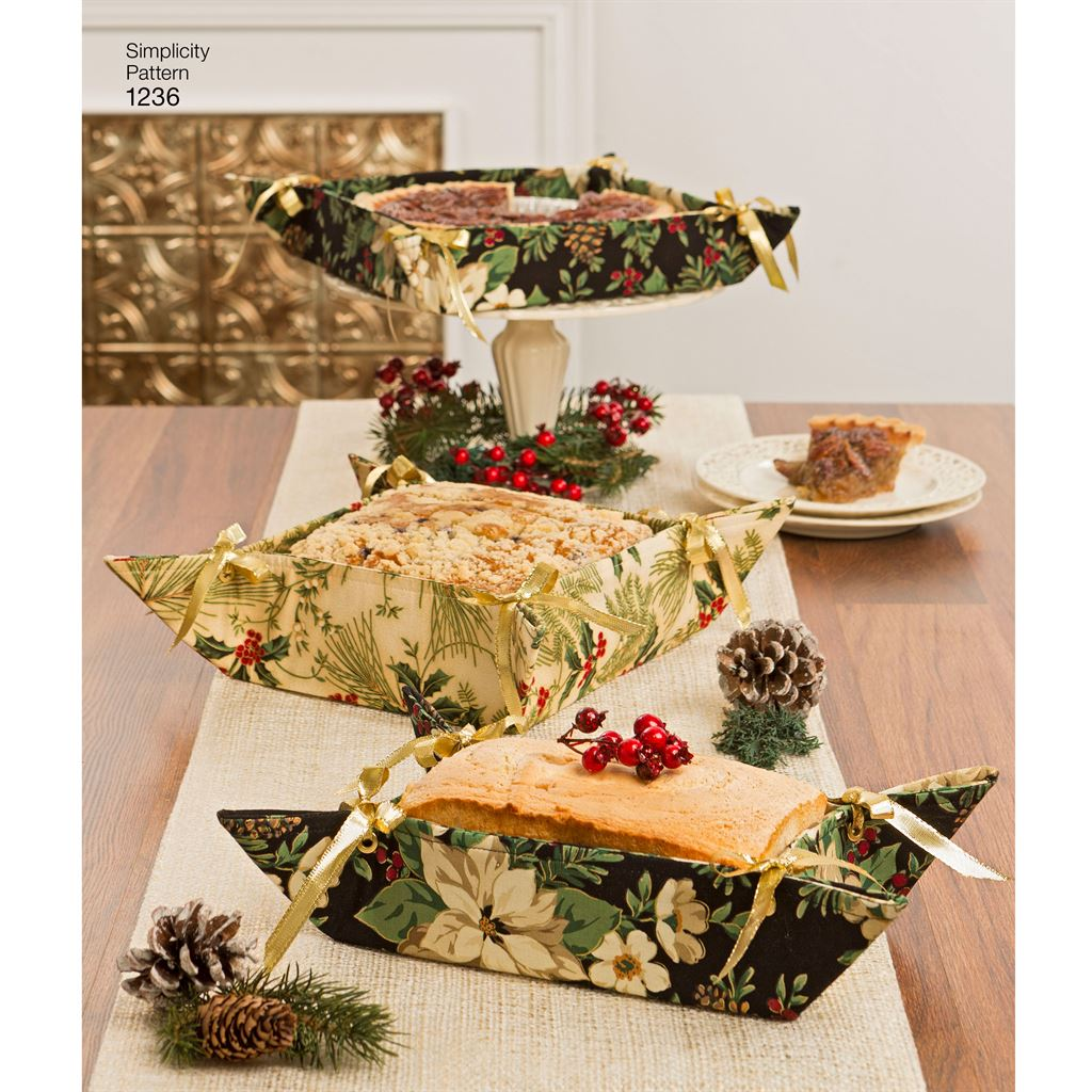 Simplicity Pattern 1236 Casserole Carriers, Gifting Baskets and Bowl Covers