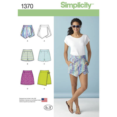 Simplicity Pattern 1370 Womens Shorts Skort and Skirt Image 1 From Patternsandplains.com
