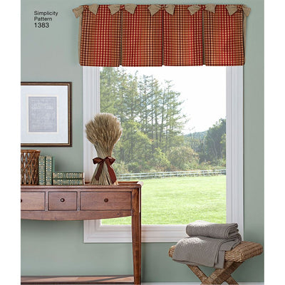 Simplicity Pattern 1383 Valances for 36 to 40 Wide Windows Image 1 From Patternsandplains.com
