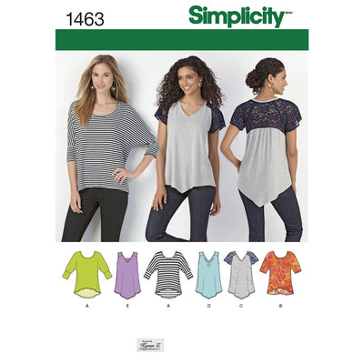 Simplicity Pattern 1463 Womens Knit Tops Image 1 From Patternsandplains.com