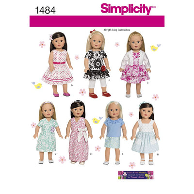 Simplicity Pattern 1484 18 Doll Clothes Image 1 From Patternsandplains.com