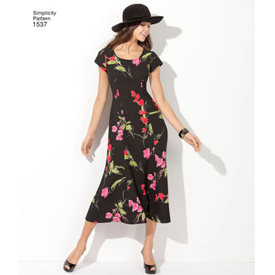 Simplicity Pattern 1537 Womens and Plus Size Amazing Fit Dress Image 1 From Patternsandplains.com