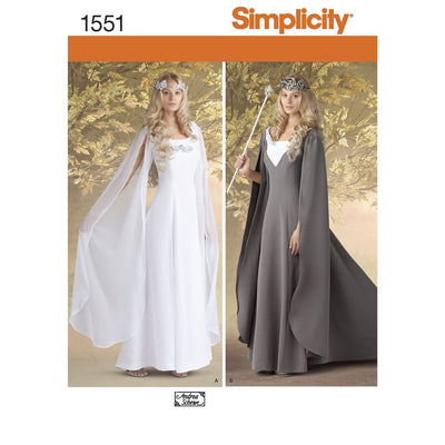 Simplicity Pattern 1551 Womens Costumes Image 1 From Patternsandplains.com