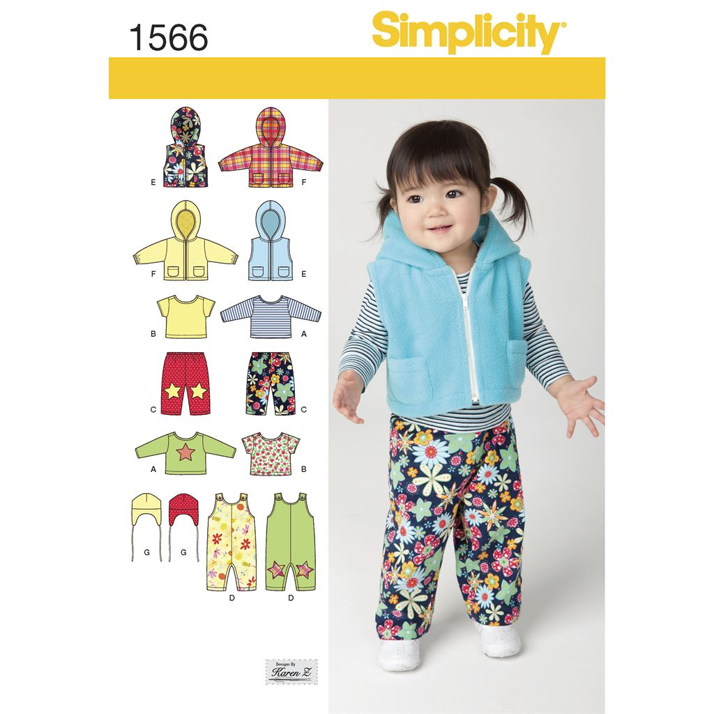 Simplicity Pattern 1566 Babies Separates Image 1 From Patternsandplains.com