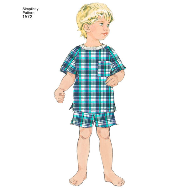 Simplicity Sewing Patterns 1572 Toddlers Childs Sleepwear Robe Size 3-6