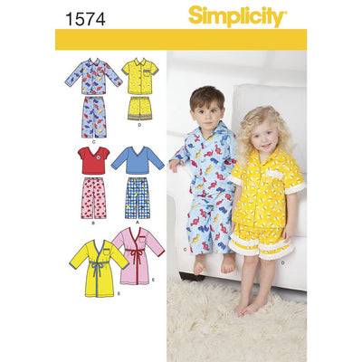 Simplicity Pattern 1574 Toddlers Loungewear Image 1 From Patternsandplains.com