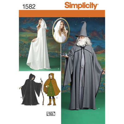 Simplicity Pattern 1582 Womens Men and Teen Costumes Image 1 From Patternsandplains.com