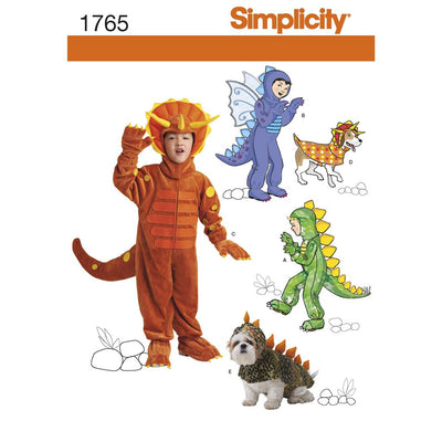 Simplicity Pattern 1765 Childs and Dog Costumes Image 1 From Patternsandplains.com