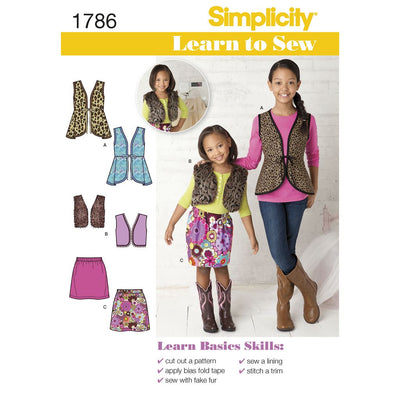 Simplicity Pattern 1786 Learn to Sew Childs and Girls Sportswear Image 1 From Patternsandplains.com