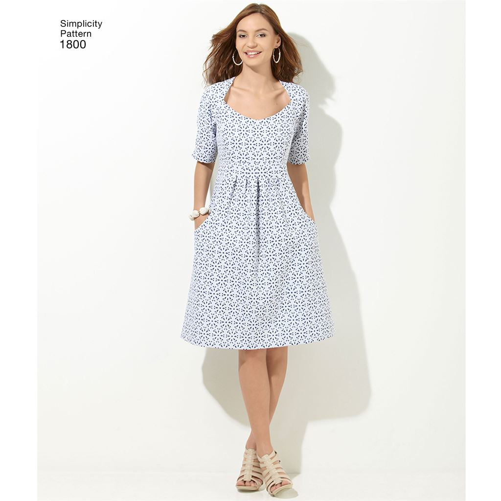 d9df08ba39a9 Simplicity Pattern 1800 Womens and Plus Size Amazing Fit Dresses Image 1  From Patternsandplains.com