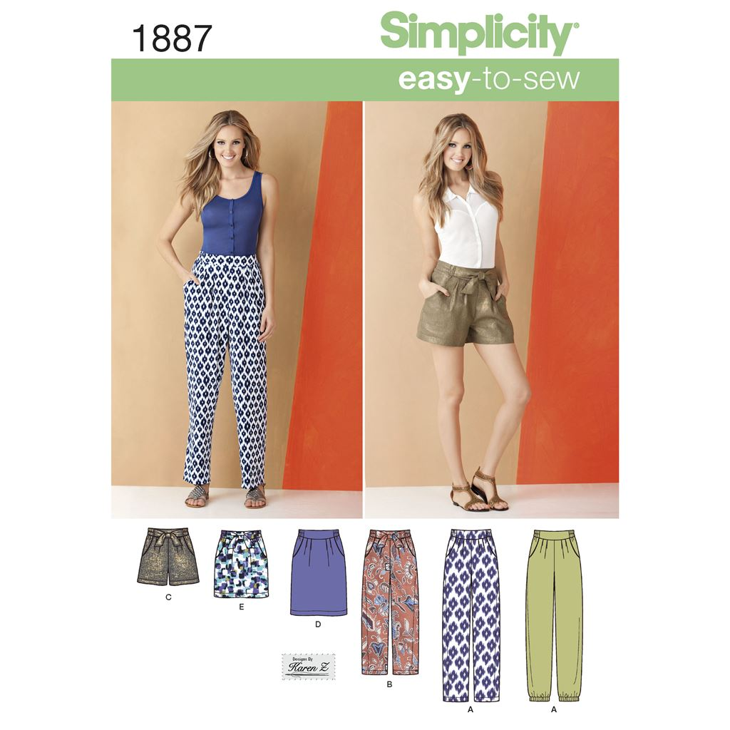Simplicity Pattern 1887 Womens Trousers and Skirts Image 1 From Patternsandplains.com