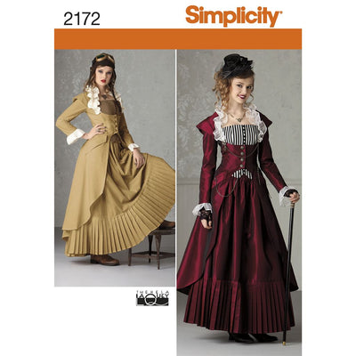 Simplicity Pattern 2172 Womens Costume Image 1 From Patternsandplains.com