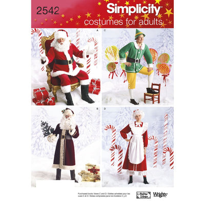 Simplicity Pattern 2542 Adult Costumes Image 1 From Patternsandplains.com