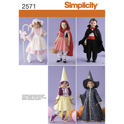 Simplicity Pattern 2571 Toddler Costumes Image 1 From Patternsandplains.com