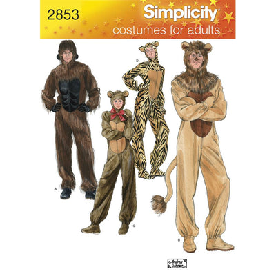 Simplicity Pattern 2853 Adult Costumes Image 1 From Patternsandplains.com