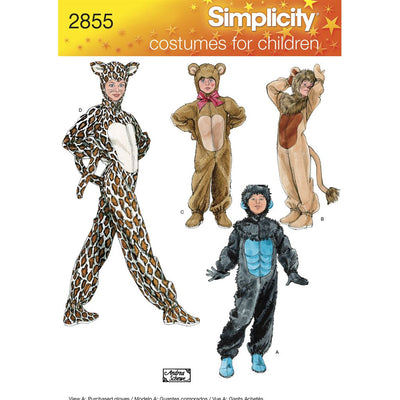 Simplicity Pattern 2855 Child Boy and Girl Costumes Image 1 From Patternsandplains.com