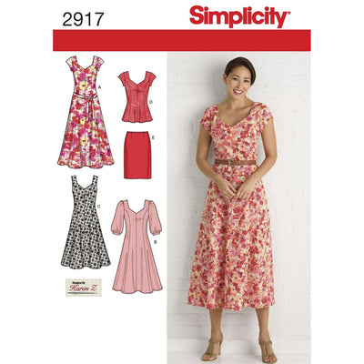 Simplicity Pattern 2917 Womens and Plus Size Dresses Image 1 From Patternsandplains.com