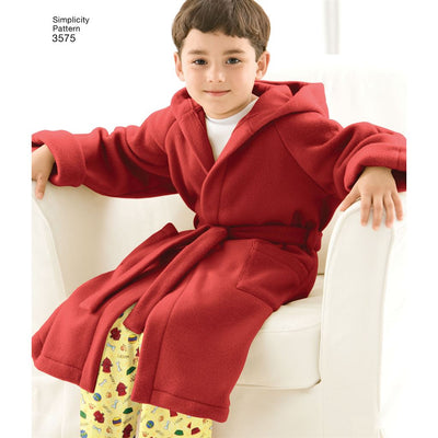 Simplicity Pattern 3575 Womens Men Child Sleepwear Image 1 From Patternsandplains.com