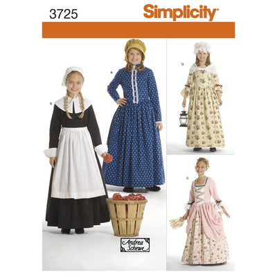 Simplicity Pattern 3725 Child and Girl Costumes Image 1 From Patternsandplains.com