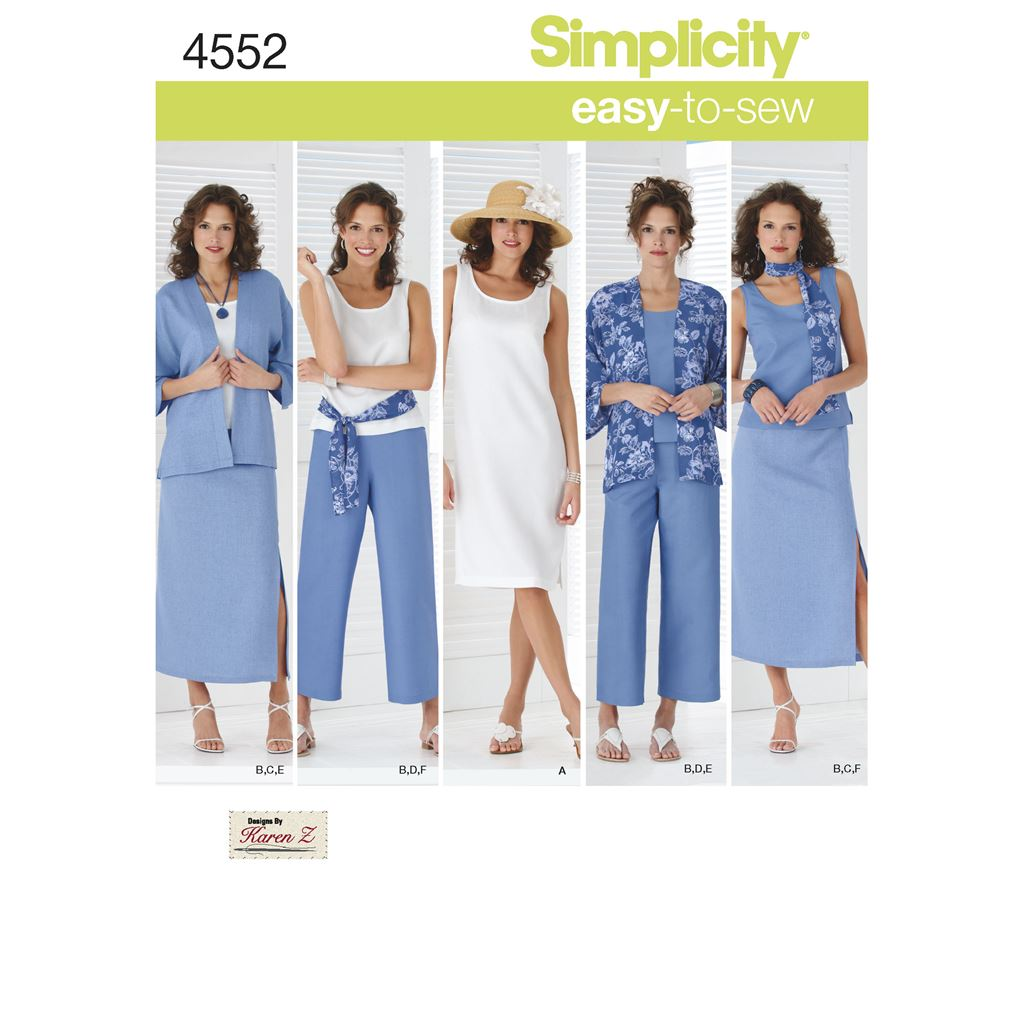 Simplicity Pattern 4552 Womens and Plus Size Smart and Casual Wear Image 1 From Patternsandplains.com