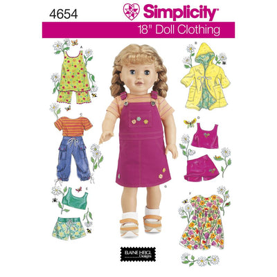 Simplicity Pattern 4654 Doll Clothes Image 1 From Patternsandplains.com