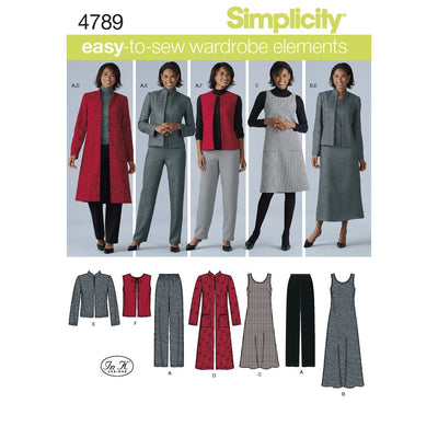 Simplicity Pattern 4789 Womens and Plus Size Smart and Casual Wear Image 1 From Patternsandplains.com