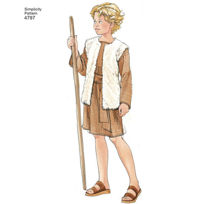 Simplicity Pattern 4797 Boy and Girl Costumes Image 1 From Patternsandplains.com