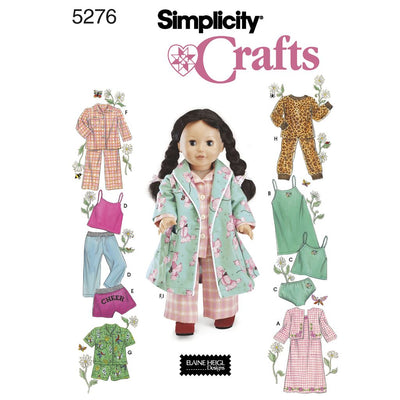 Simplicity Pattern 5276 Doll Clothes Image 1 From Patternsandplains.com