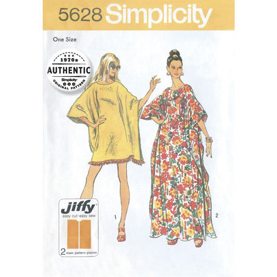 Simplicity Pattern 5628 Womens One Size Vintage Jiffy Caftan Image 1 From Patternsandplains.com