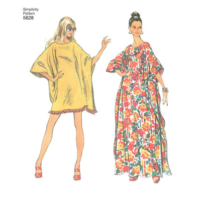Simplicity Pattern 5628 Womens One Size Vintage Jiffy Caftan Image 2 From Patternsandplains.com