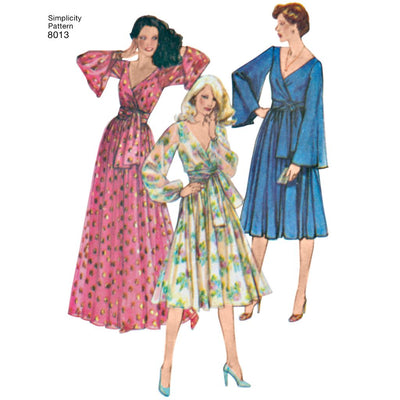 Simplicity Pattern 8013 Womens Vintage 1970s Dresses Image 1 From Patternsandplains.com