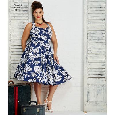 Simplicity Pattern 8051 Womens and Plus Size Dresses Image 1 From Patternsandplains.com