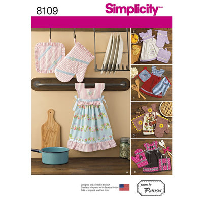Simplicity Pattern 8109 Towel Dresses Pot Holders and Oven Mitts Image 1 From Patternsandplains.com