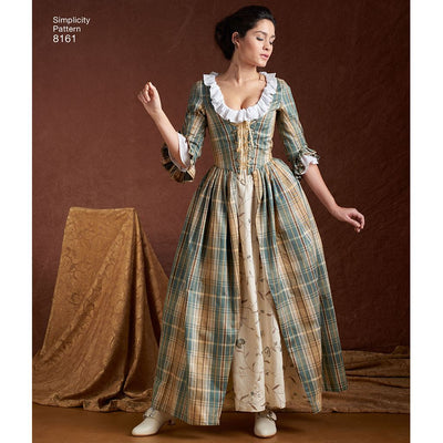 Simplicity Pattern 8161 Womens 18th Century Costumes Image 1 From Patternsandplains.com