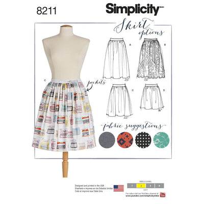 Simplicity Pattern 8211 Womens Dirndl Skirts in Three Lengths Image 1 From Patternsandplains.com